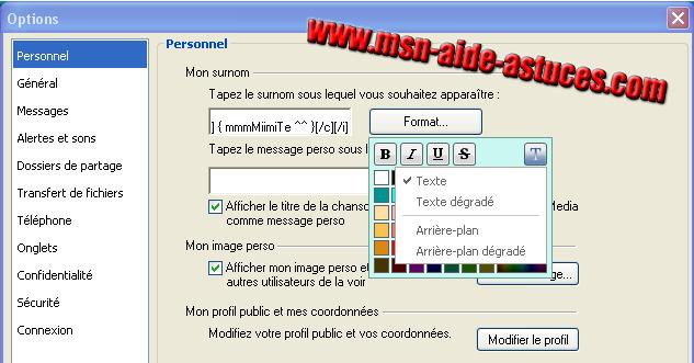 Personnaliser votre pseudo (police,couleur..) Astucesbiscuit3
