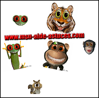 Pack 5 Animaux : Smileys et avatars Pack5
