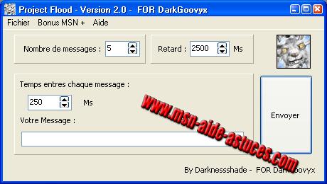 Project Flood : envoyer plusieurs fois le même message Projectflood