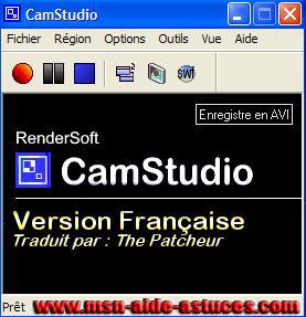 Cam Studio : enregistrer la webcam de votre contact Camstudio