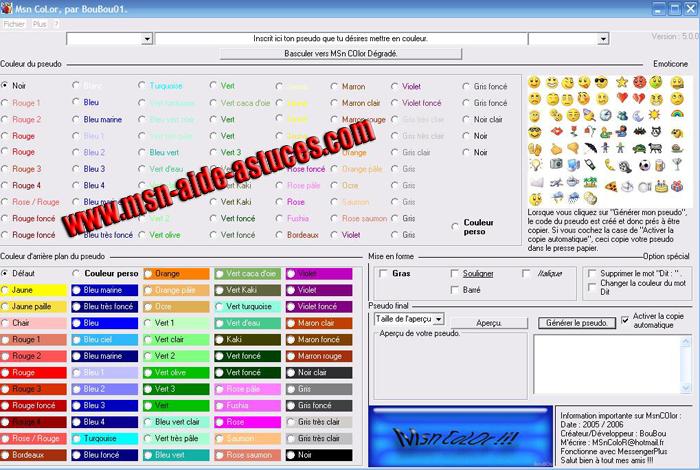 Msn Color: Générateur de couleur pour Windows Live Messenger Msncolorv5petit