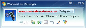 Online Time : Afficher le temps que vous passer sur Msn Onlinetime