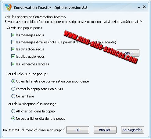 Conversation Toaster : affiche le texte dans une pop-up - Page 4 Toaster3