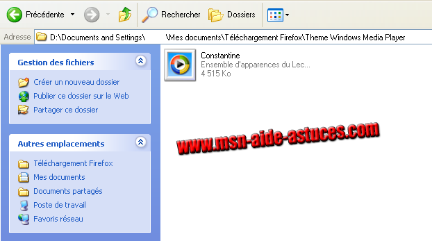 Installer un Theme Windows Media Player Capture1