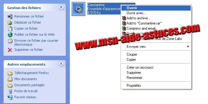 Installer un Theme Windows Media Player Capture2